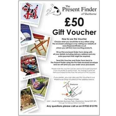 Present Finder Gift Voucher  For the value of £50