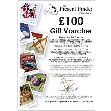Present Finder Gift Voucher  For the value of £100