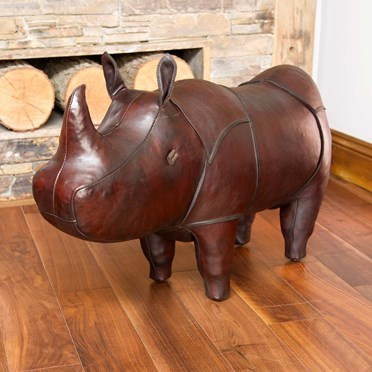 Handmade Leather Rhino - Medium