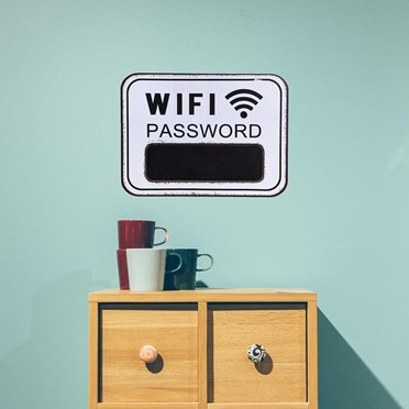 Wifi Password Chalk Board