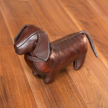 Handmade Leather Dachshund-Miniature