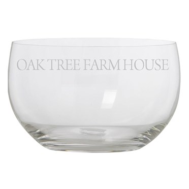 Personalised Glass Bowl
