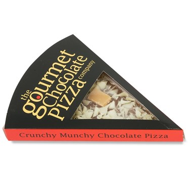 An image of Belgian Chocolate Pizza Slice | Crunchy Munchy Topping