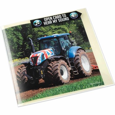 Tractor Greeting Card with Sound