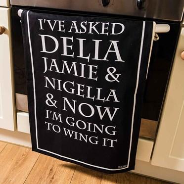 Delia, Jamie & Nigella Tea Towel