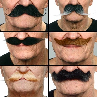 Stick on Moustaches Set of 6