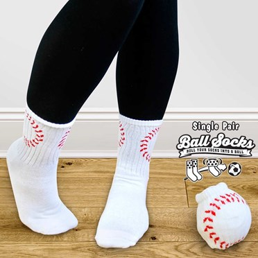 Pair of Baseball Style Socks - Ball Socks