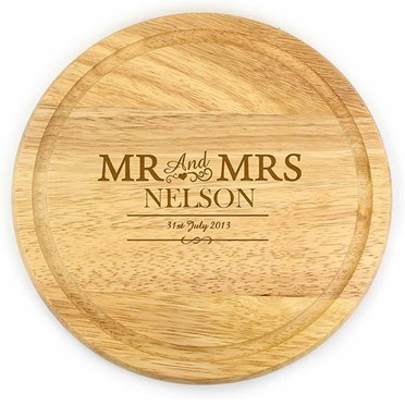 Personalised Round Wooden Chopping Board