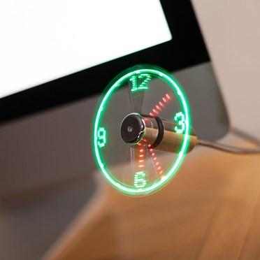 LED USB Clock Fan