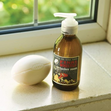 Rugby Ball Soap and Shower Gel Gift Set