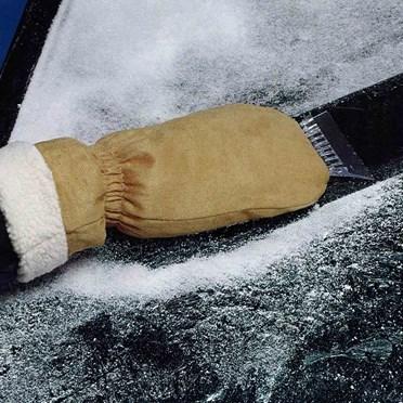 Suede Ice Scraper Mitt