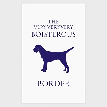 Boisterous Border Terrier Tea Towel