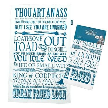 Shakespeare Insults Tea Towel