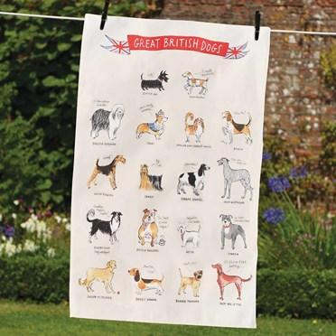 Great British Dogs Tea Towel