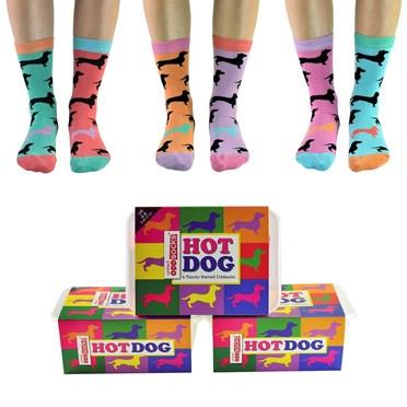 Hotdog Dachshund Odd Socks