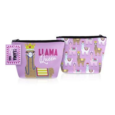 Llama Queen Make Up Bag