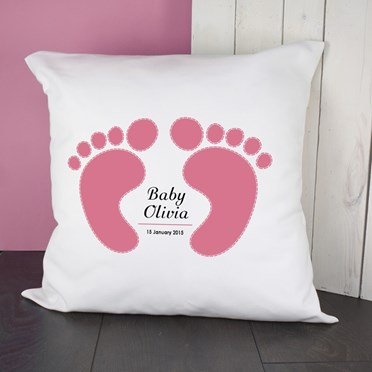 Personalised Baby Feet Cushion Cover