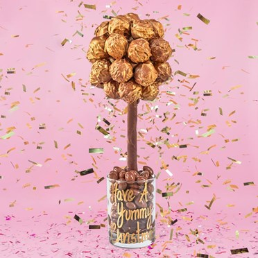 Personalised Gold Belgian Truffle Sweet Tree