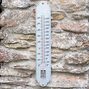 Giant Outdoor Thermometer - Zinc
