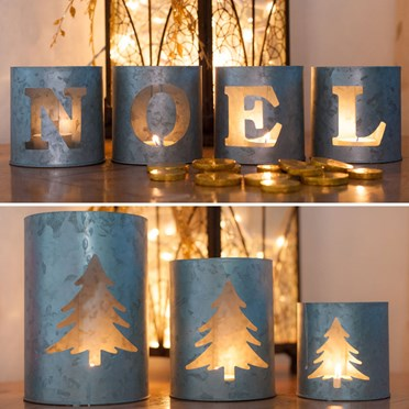 Noel & Fir Tree Tea Light Holders