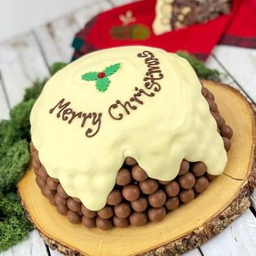 Personalised Maltesers & Terry's Chocolate Orange Christmas Pudding