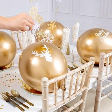 Christmas Gold Balloon Pop-per Crackers