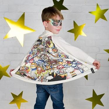Colour In Super Hero Comic Cape