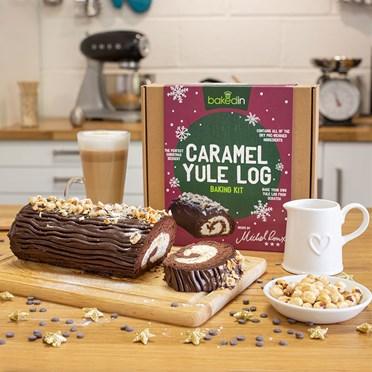 Chocolate Caramel Yule Log Bake Kit