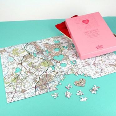 Personalised We First Met Here Map Jigsaw Puzzle