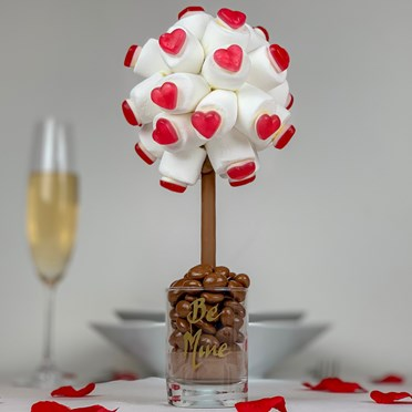 Personalised Red Haribo Heart Marshmallow Tree