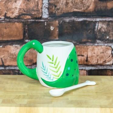 Dinosaur Mug with Bone Stirrer