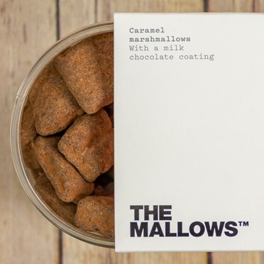 Smooth Caramel Chocolate Coated Marshmallows