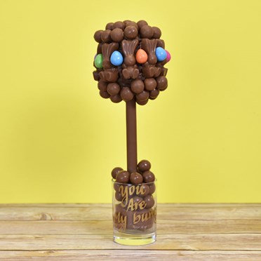 Personalised Malteser Bunny and Smartie Egg Sweet Tree