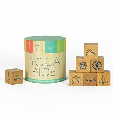 Wooden Yoga Dice