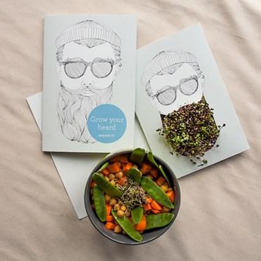 Grow Your Own Beard Greetings Card