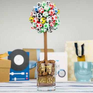 Personalised Chocolate Football Tree