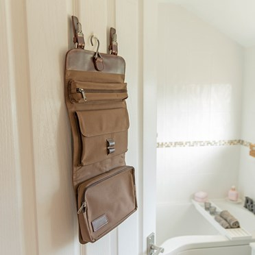 Leather Hanging Wash Bag