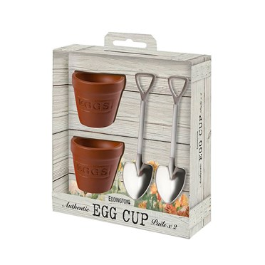 Flower Pot and Shovel Egg Cup Set