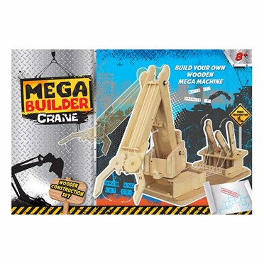 Megabuilder Crane Wooden Construction Kit