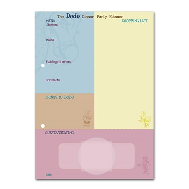 Gifts Dodo Dinner Party Planner Pad