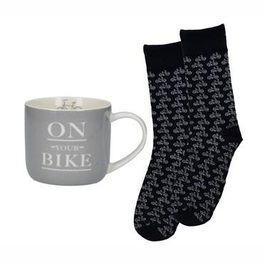On Your Bike Mug and Socks Set