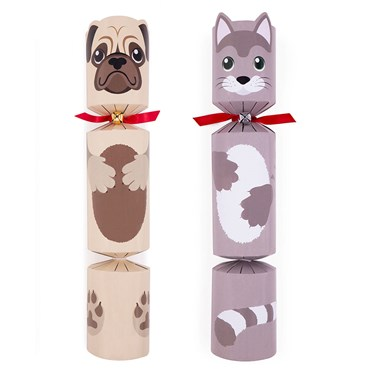 Christmas Crackers Cartoon.Pet Themed Christmas Crackers