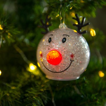 Christmas Reindeer LED Bauble