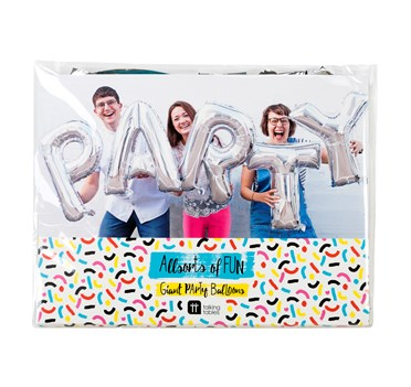 Giant Silver Party Balloon Banner