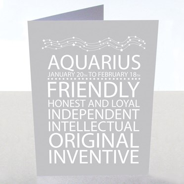 Aquarius Star Sign Card
