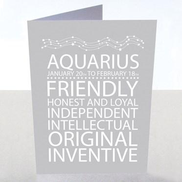 Aquarius Star Sign Card