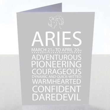 Aries Star Sign Card