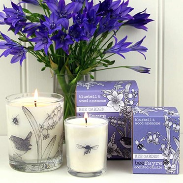 Bee Garden Bluebell & Wood Anemone Candle