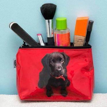Black Lab Puppy Make-Up Bag