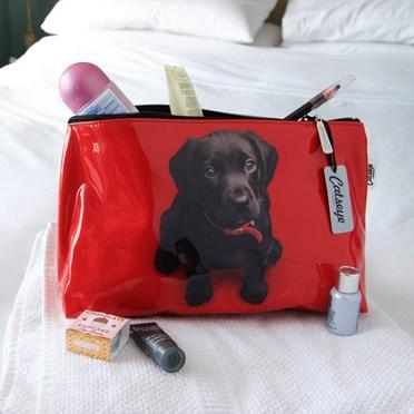 Black Lab Puppy Wash Bag